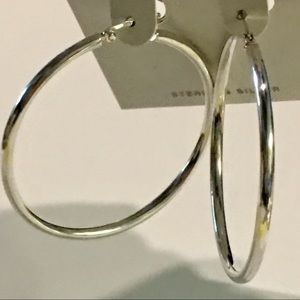 """Lord & Taylor Jewelry - NEW! $120 2"""" Lord & Taylor Sterling Silver Hoops"""
